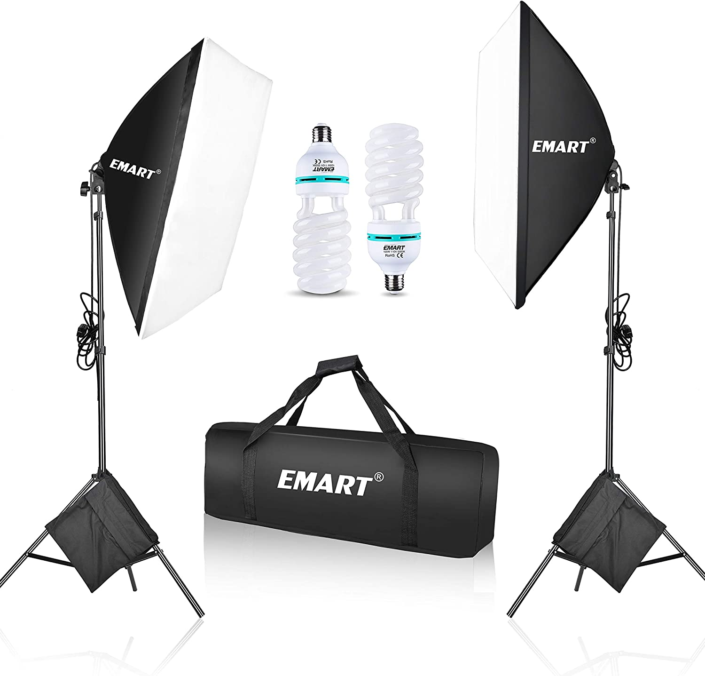 Emart 1050 Watt Softbox Photography Lighting Kit with Sandbags 20