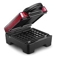 LAGRANGE Tarti' Gaufres 2waffle(s) Negro, Rojo - Gofrera (Aluminio)