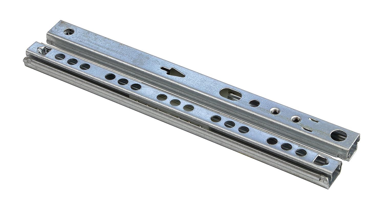 /Capacit/é 12/&nbs Gedotec/® Lot de 10/glissi/ères /à extraction partielle//Coulisses /à billes//Glissi/ères de tiroir//glissi/ères /à billes /En acier galvanis/é/ 17/mm