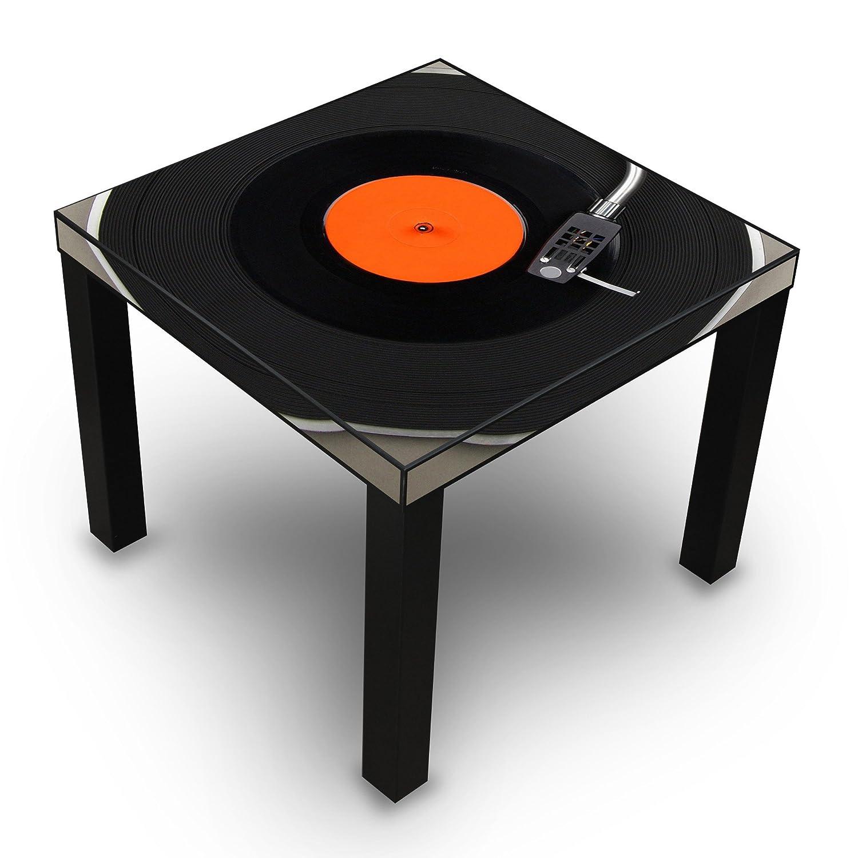 Mesa auxiliar Negro con Diseño: Tocadiscos: Amazon.es: Hogar