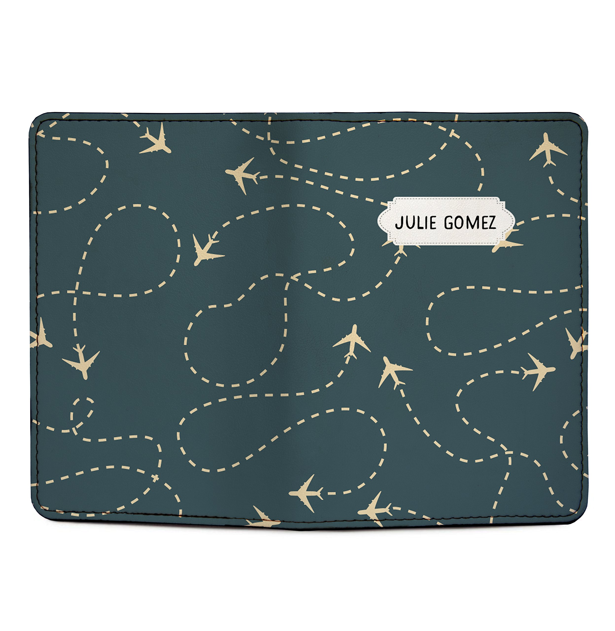 Customized RFID Blocking Leather Passport Holder Airplanes by With Love From Julie (Image #3)