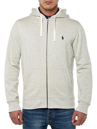 516e325be189c POLO Ralph Lauren - Sweats à capuche - Homme - Sweatshirt Zippé Gris - S