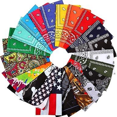 22 Paquete de Pañuelos de Algodón Surtidos 22 Colores, Bufanda ...