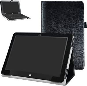 """Insignia Flex NS-P10W8100 / NS-P10A8100K Case,Mama Mouth PU Leather Folio 2-Folding Stand Cover for 10.1"""" Insignia Flex NS-P10W8100 / NS-P10A8100K Android Tablet,Black"""