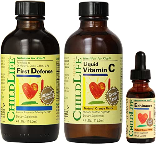 Child Life First Defense and Liquid Vitamin C, 4 Ounce with Echinacea, 1 Ounce