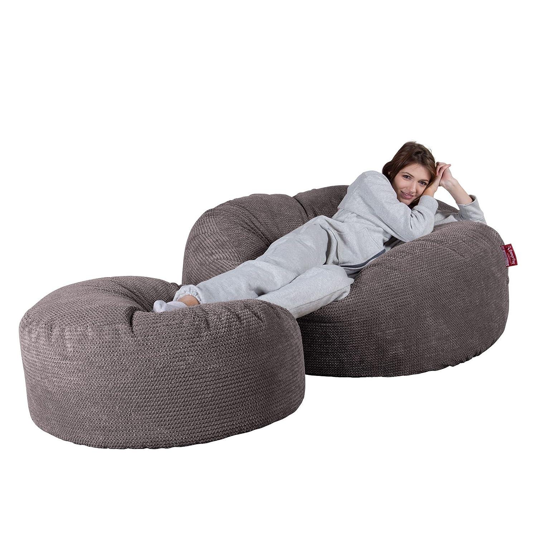 Lounge Pug®, Puff Gigante Mega-Mamut, Pompón - Carbón Gris ...