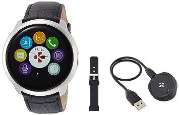 MyKronoz Zeround Premium-Reloj de Actividad y sueño con notificaciones y Pantalla táctil, Color Plata y Negro, Unisex