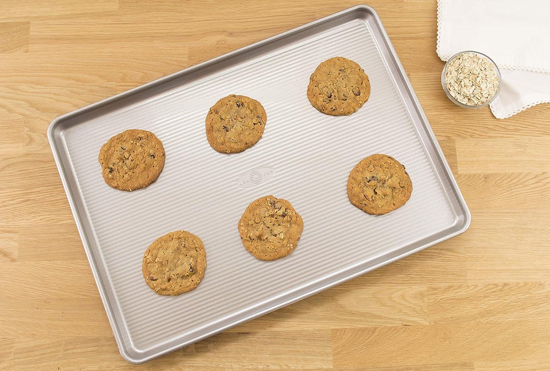 Made in the USA from Aluminized Steel 1045QS USA Pan Bakeware Quarter Sheet Pan Warp Resistant Nonstick Baking Pan