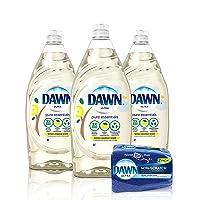 Deals on 3-Pk Dawn Pure Essentials Liquid Dish Soap 24-oz w/2-Ct Sponge