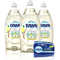 3-Pack Pure Essentials Liquid Dish Soap with 2 Dawn Sponges