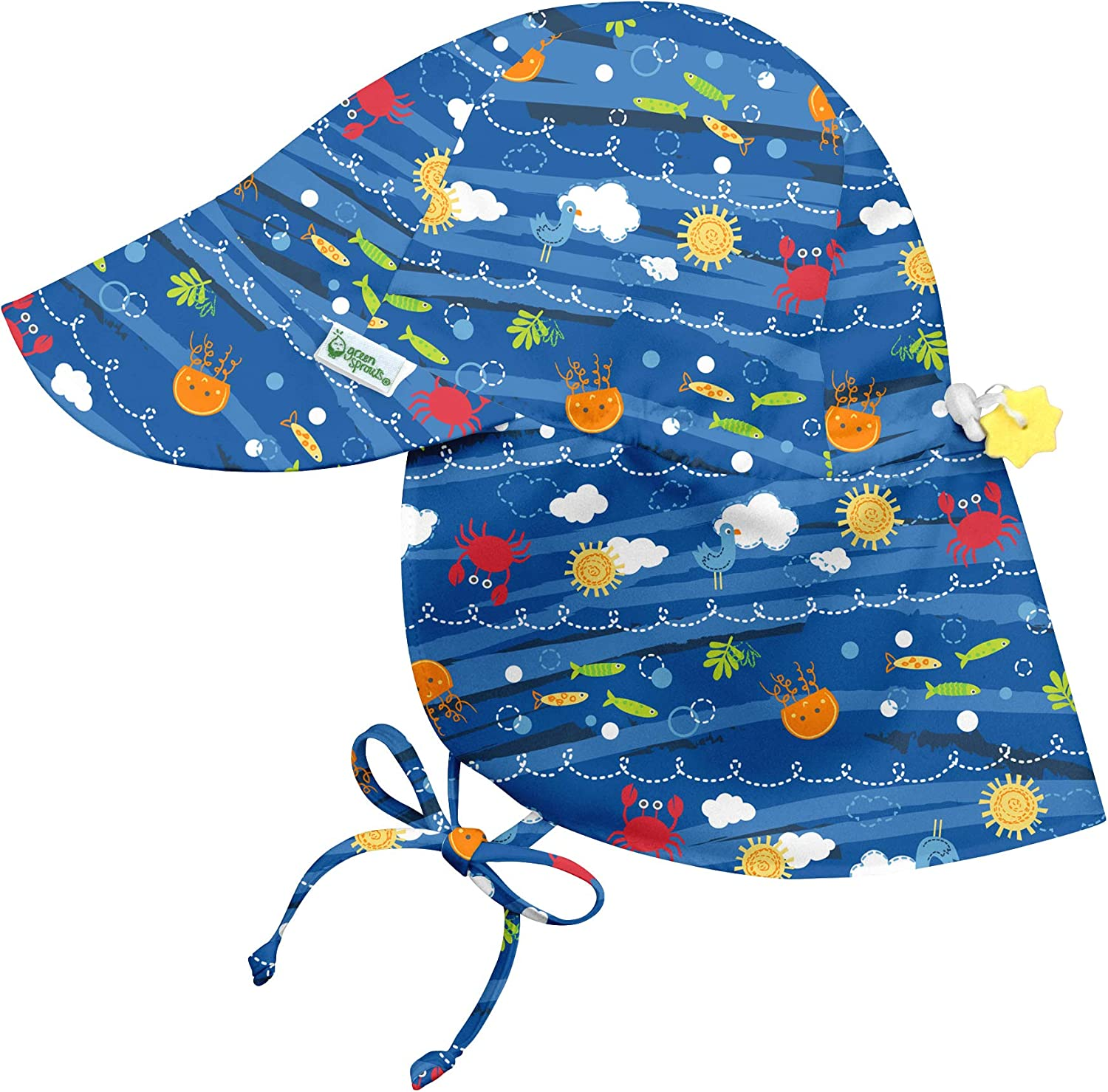 Eyes All-Day UPF 50+ Sun Protection for Head i play Neck by green sprouts Baby Boys Flap Hat