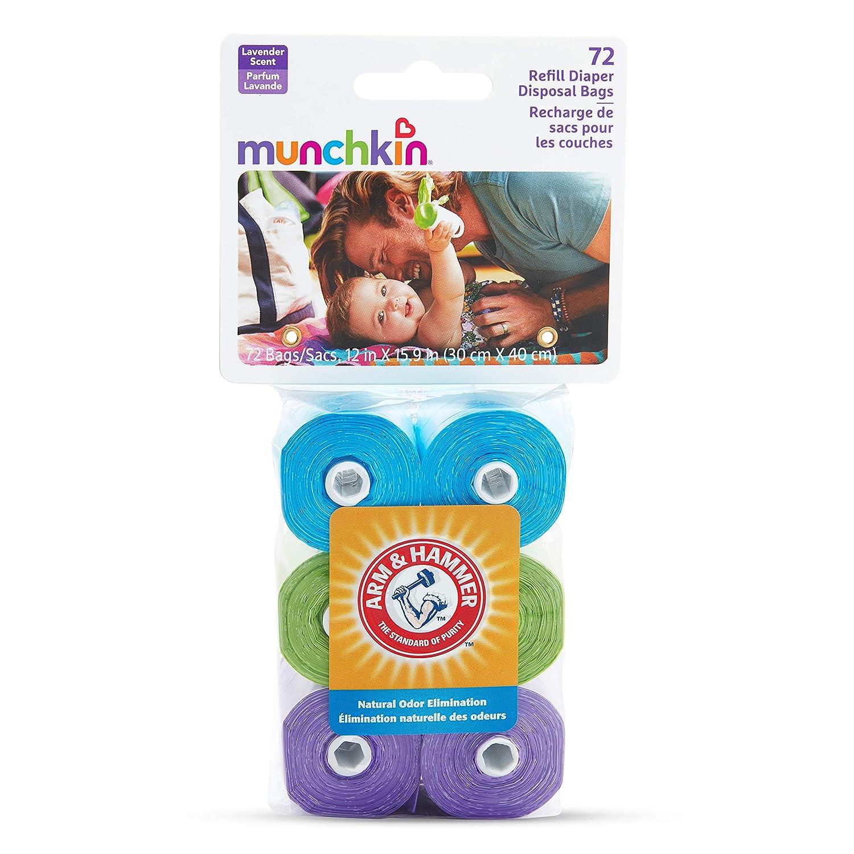 Munchkin Arm /& Hammer 72Pk Diaper Bag Dispenser Refills Durable MYTODDLER New
