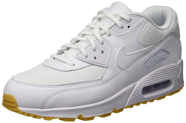 Nike Wmns Air MAX 90, Zapatillas de Deporte para Mujer 36.5 EU|Blanco (White/White-gum Light Brown 135)