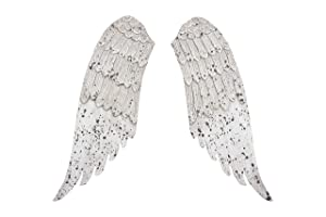 Creative Co-op Small Decorative Angel Wings in Distressed Grey