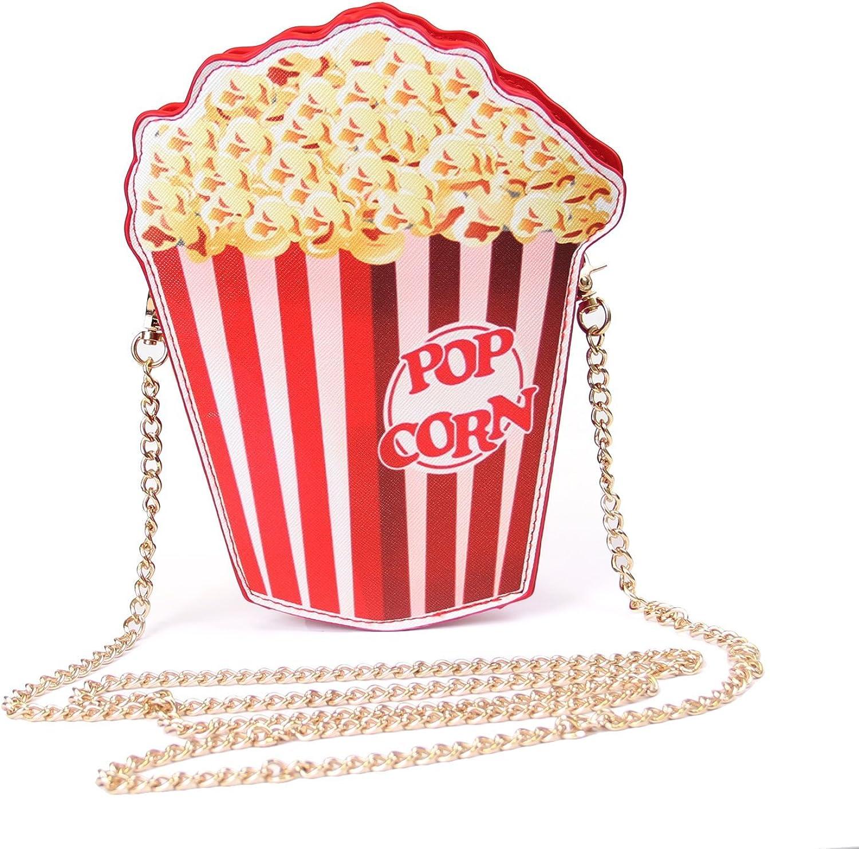 SUKUTU Girls Cupcake Popcorn Egg Fruits Milk Box PU Crossbody Handbag Women Small Purse and Cell Phone Shoulder Bag