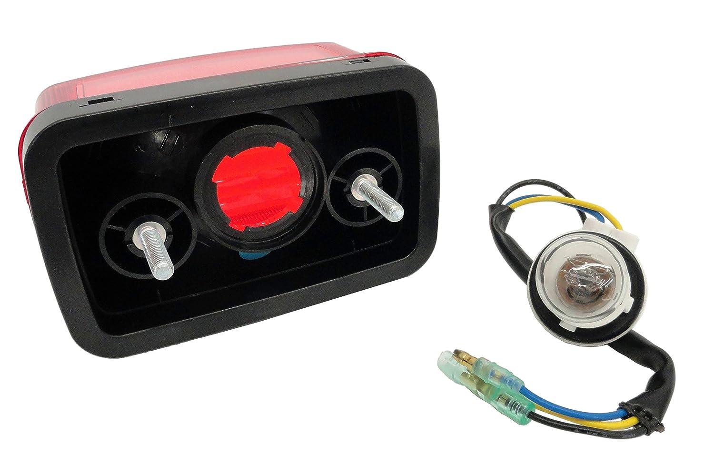 Two CRU Products Taillight Light Lens Harness Bulb Yamaha 04-07 YXR 660 Rhino