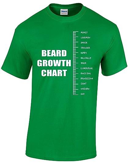 Amazon R Garments Beard Growth Chart Beard Lover T Shirt