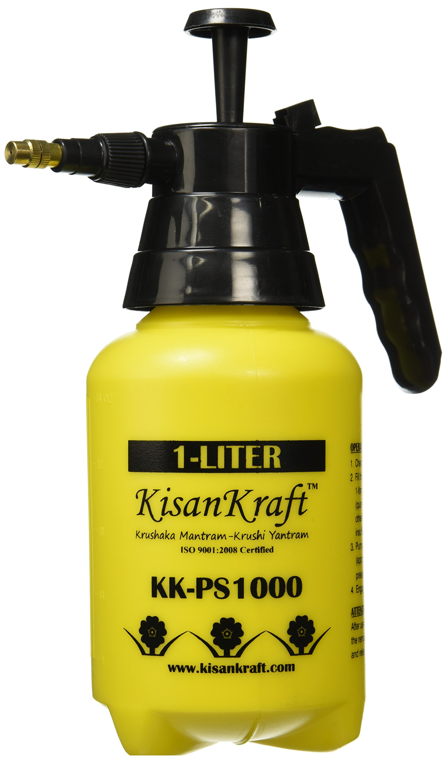 KisanKraft KK-PS1000 Manual Sprayer (1 Litre, Color May Vary, Plastic) product image
