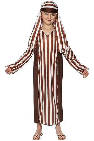 Smiffys-31285S Miffy Disfraz de Pastor, con túnica y Adorno para la Cabeza, Color marrón, S-Edad 4-6 años (31285S)