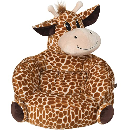 Children s Plush Giraffe Character Chair