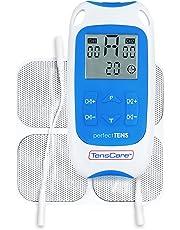 TensCare Perfect Tens- Tens Electroestimulador para aliviar el dolor.2 Canales, 4 electrodos. programas Clínicamente Probados para el dolor de espalda, Artritis y Lumbago