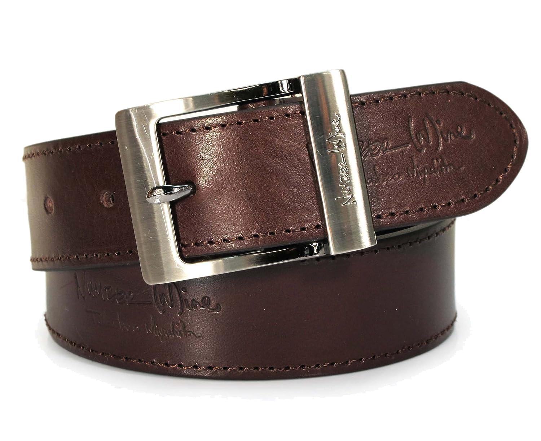 """(CM0-134) Hombre Cinturón Marrón Oscuro 100% Cuero Real 28,30,32,34,36,38,40,42pulgadas Ancho 1,5"""" Cuero italiano"""