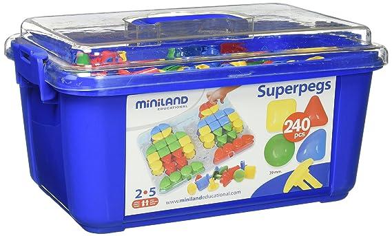 miniland miniland95072 super pegs in container set sortiment 240 amazon de spielzeug