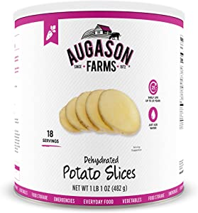 Augason Farms Dehydrated Potato Slices 1 lb 1 oz No. 10 Can