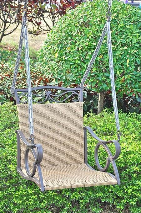 Valencia Outdoor Wicker Hanging Patio Swing