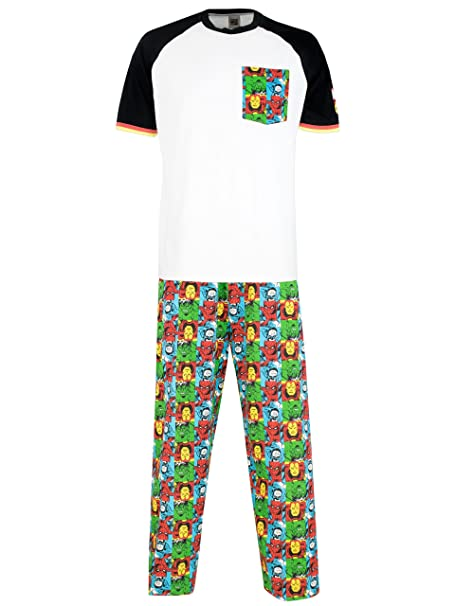 Marvel Comics pijama para Hombre Avengers Small