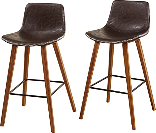 Target Marketing Systems Wapoli Counter Barstool, Brown
