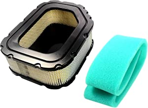 HQRP Air Filter and Pre-filter compatible with Craftsman 33180, 32-083-03-S fits DGS 6500 917.28745, GT 6000 917.28861 Garden Tractors plus HQRP Coaster
