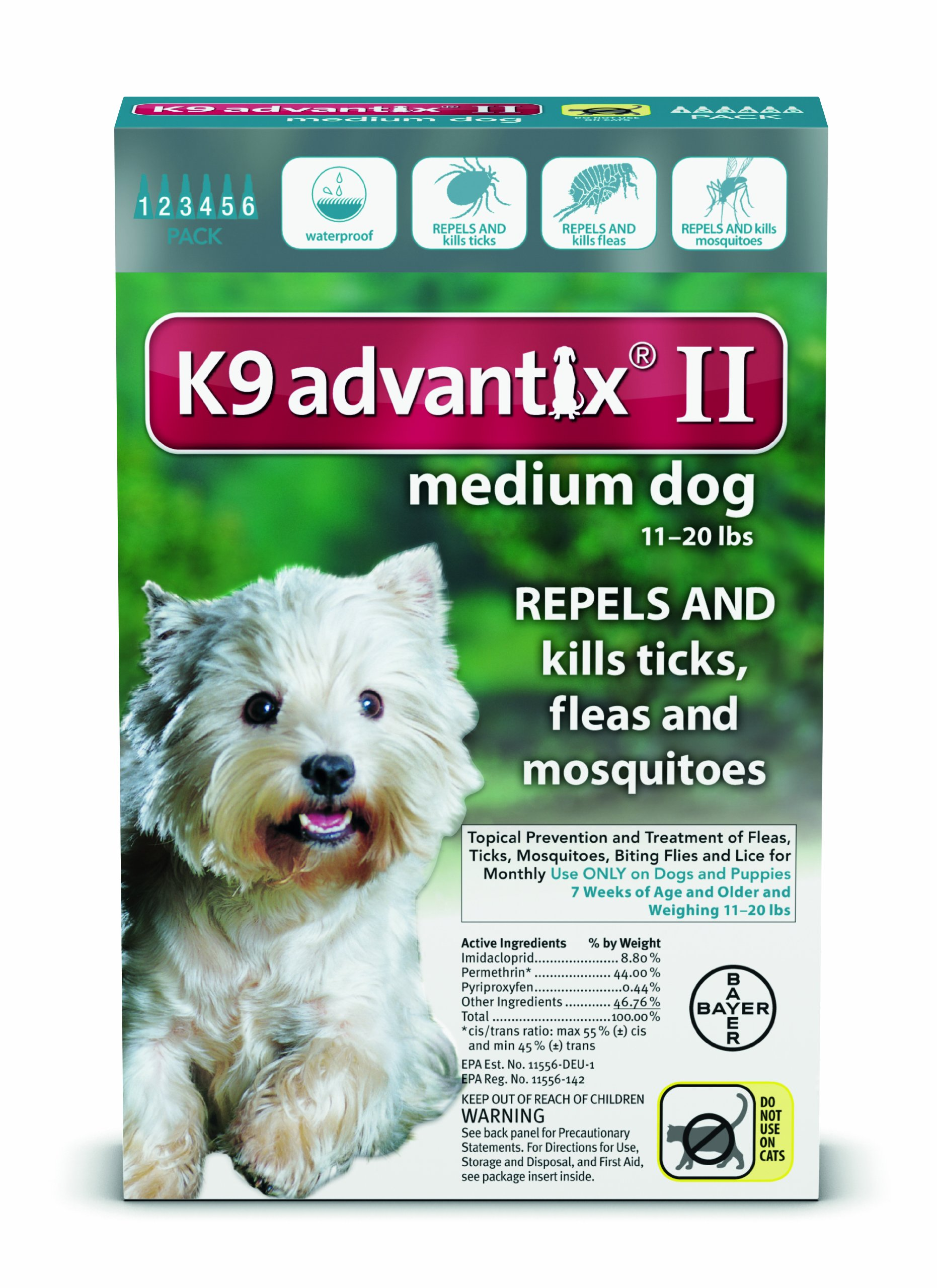 Bayer K9 Advantix II (11-20 lbs) 6-doses by Bayer Animal Health