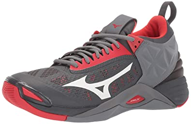 424f606c9c84 Mizuno Men's Wave Momentum Volleyball Shoe, high risk red-grey, ...