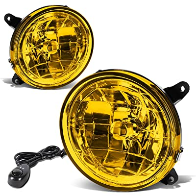 DNA Motoring FL-T036-AM Amber Fog Light Assembly (Driver & Passenger Side): Automotive