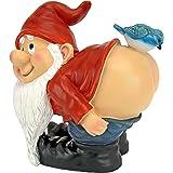 Design Toscano Moonie Bare Buttocks Garden Gnome Statue, Multicolored
