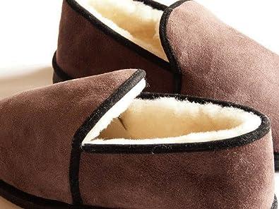 charentaises femmes coffee fourrées peau de mouton - tannage naturel - 39 mgrAY