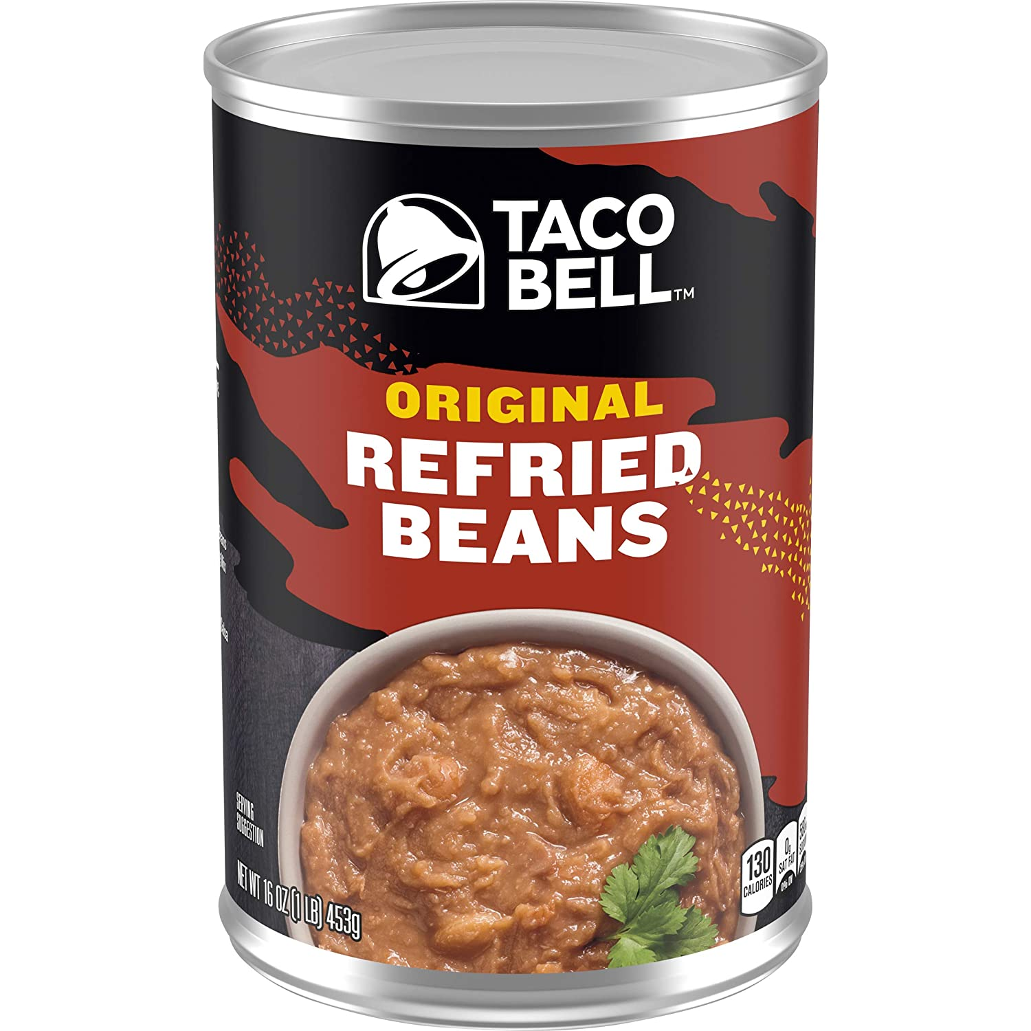 Taco Bell Original Refried Beans, 16 oz Can (Pack of 12)