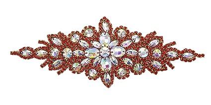ModaTrims Hot-Fix or Sew-On Beaded Crystal Rhinestone Applique for Bridal  Belt Wedding 5746ef1d6092