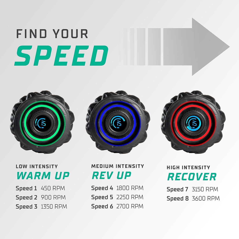 CubeFit Pulse Vibrating Foam Roller Rechargeable Vibrating Foam Roller Vibrating Roller Foam Roller Vibration Massage Roller for Muscles Back Roller Massager