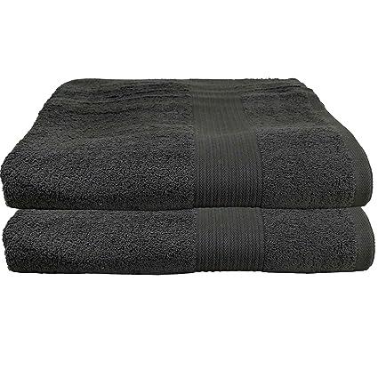 2er de colour gris oscuro de juego de acción de toalla toallas de serie 80 x