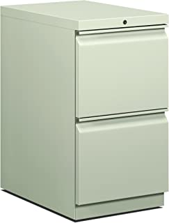 product image for HON 22-7/8-Inch Efficiencies Mobile Pedestal File with 2 File Drawers, Light Gray