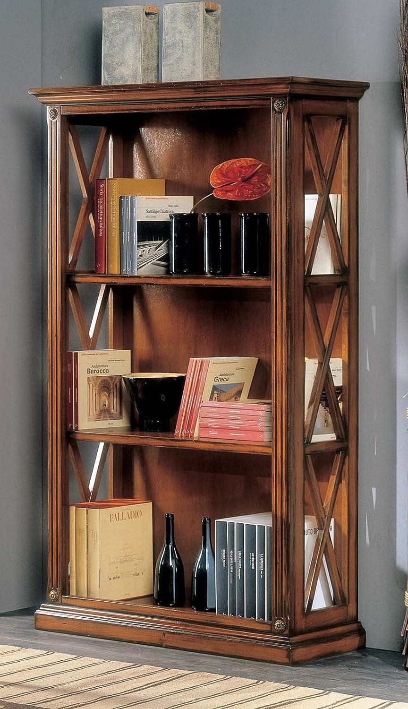 Bücherregal mit Gitter.