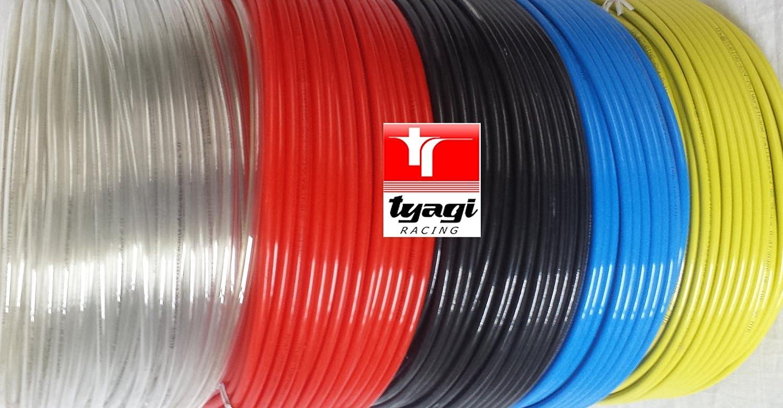 Black Tyagi Racing 6mm x 4mm Pneumatic Air Compressor Tubing PU Hose Tube Pipe 20 meter