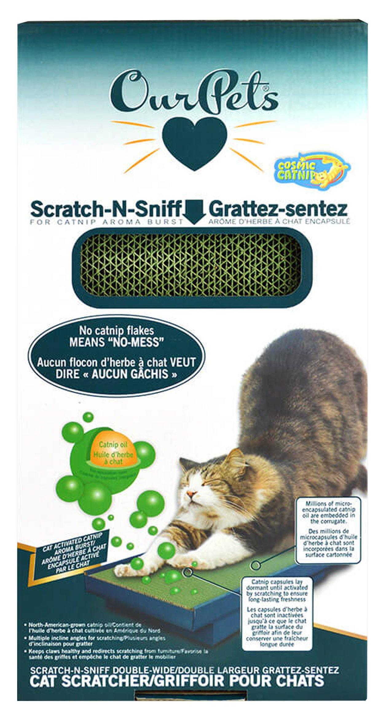 OurPets Scratch-N-Sniff Cat Scratcher Microencapsulation Catnip Oil No Mess Scratching Pad