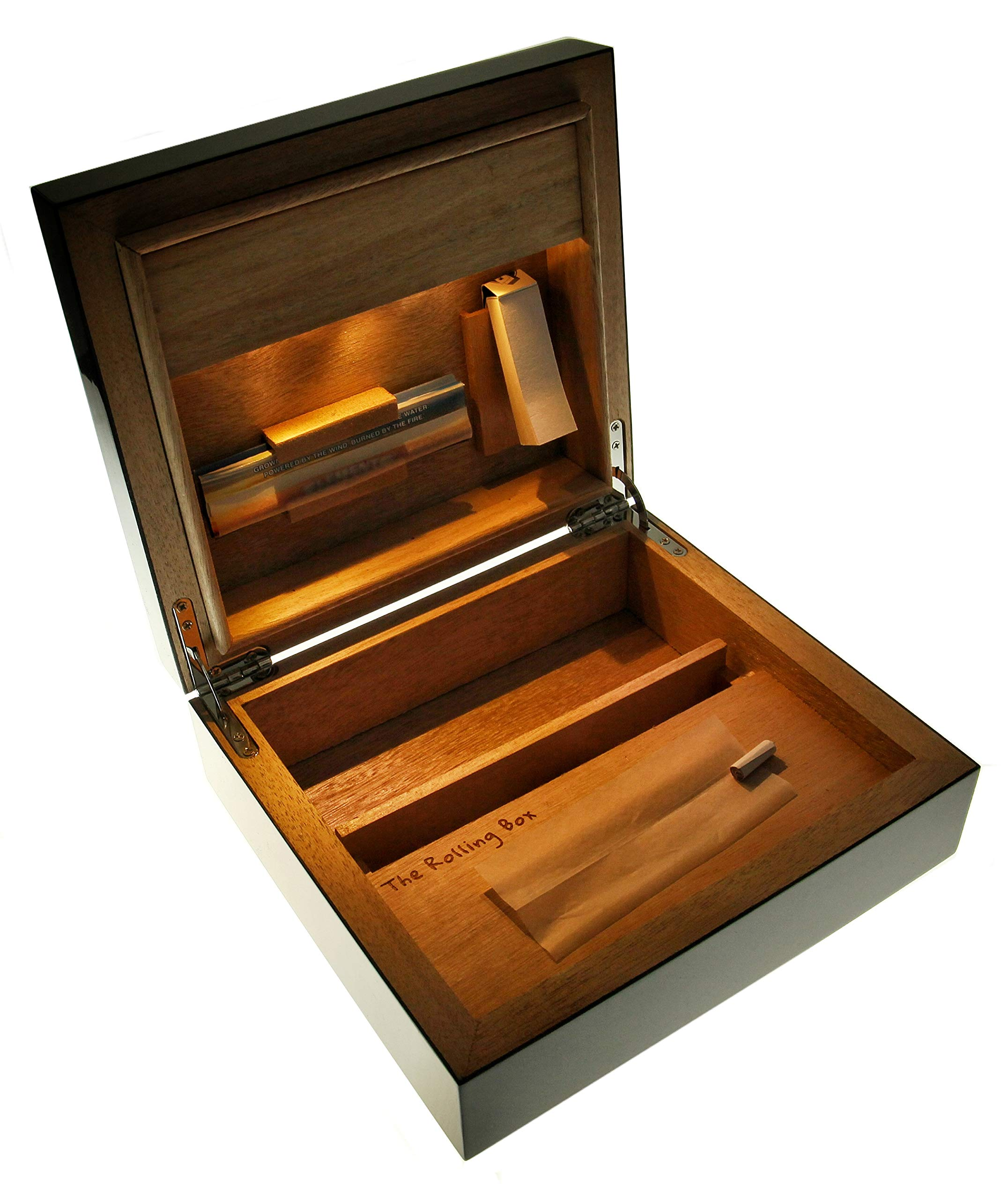 The Rolling Box Regia 210 - The smoker's stash Box with LED Lights