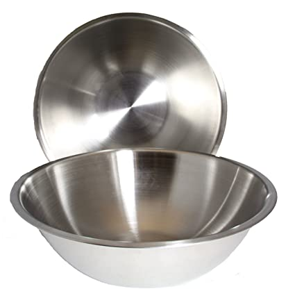 Amazoncom 8 Quart Set Of 2 Mixing Bowls Stainless Steel
