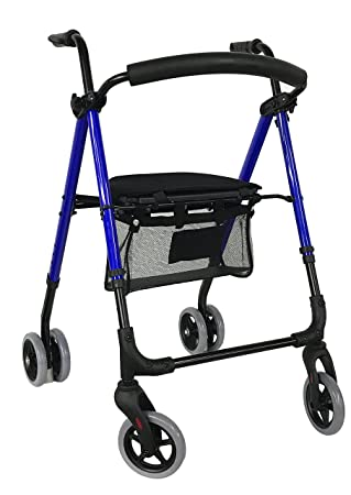 ANDADOR ANOTA ROLLATOR PREMIUM PUSH CROMO A500: Amazon.es ...