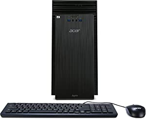Acer Aspire Desktop, Intel Core i5-6400, 8GB DDR3, 2TB HDD, Windows 10 Home, ATC-710-UR61