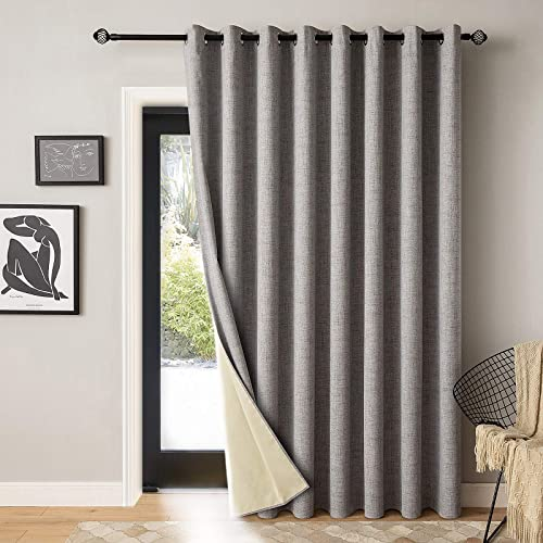 Cheap MIULEE 100 Blackout Curtains Linen Textured window curtain panel for sale
